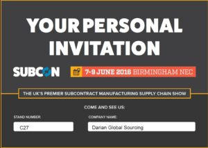 The final countdown - six days to Subcon! Darian Global Sourcing